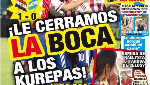 """""""¡Así les enseñamos educación!"""", dispara la prensa paraguaya"""