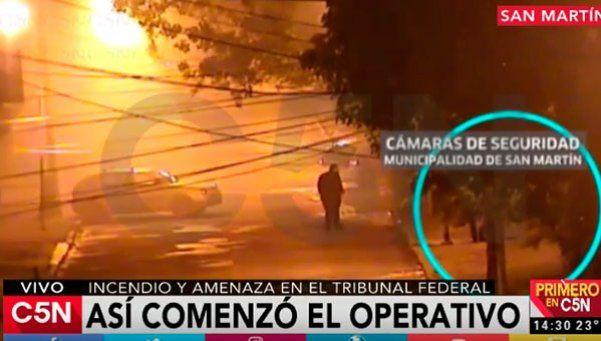 Video | Las imágenes del incendio en el tribunal de San Martín