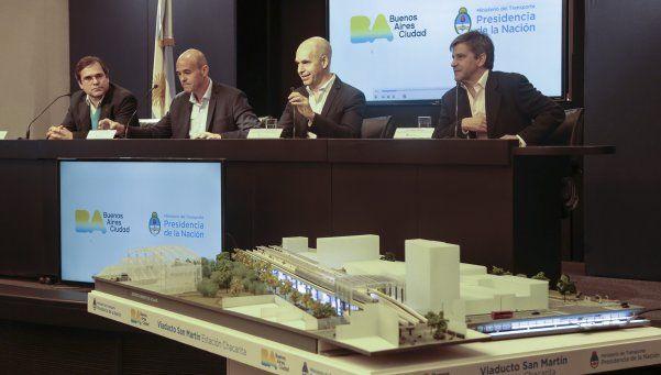 Construirán viaducto para el tren San Martín en Capital