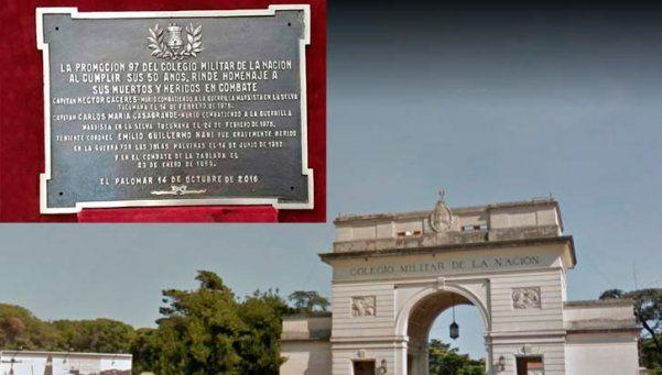 Polémico: Colegio Militar homenajeó a caídos contra los marxistas