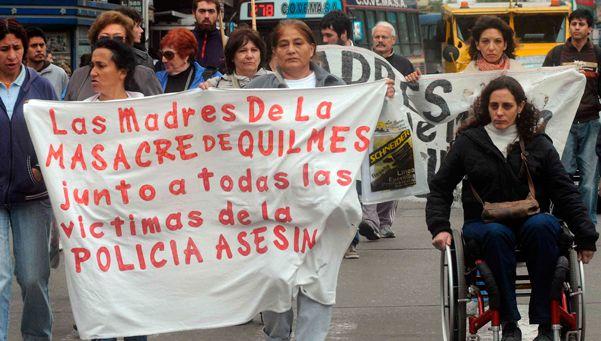 Acto por los 12 años de la Masacre de Quilmes