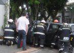 Choque entre un colectivo y varios autos en Villa Urquiza: 4 heridos