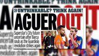 Guardiola desmintió la lapidaria tapa británica anti Agüero
