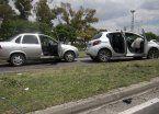 Tiroteo en la General Paz: dos delincuentes y un policía, heridos