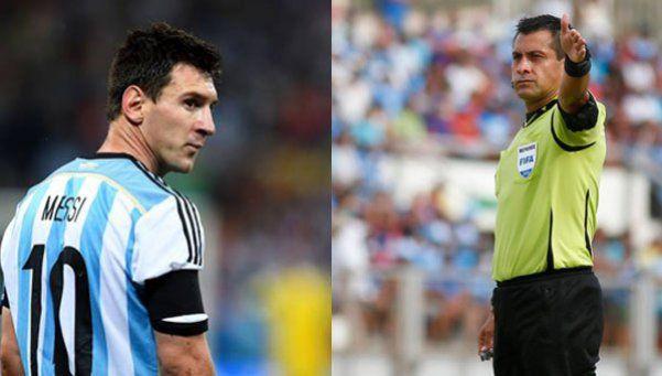 Un árbitro que se peleó con Messi dirigirá el partido ante Brasil