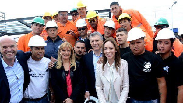 Macri y Vidal se mostraron con Magario en La Matanza