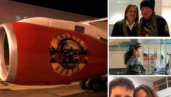 En un avión ploteado, llegaron los Guns N´Roses a la Argentina