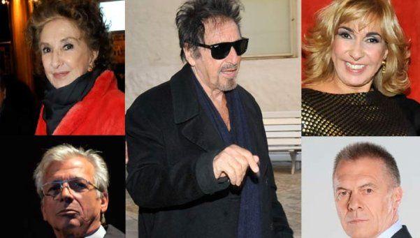 Críticas de figuras al show de Pacino y defensa de su novia