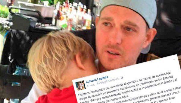 Michael Bublé confirmó que su hijo Noah tiene cáncer