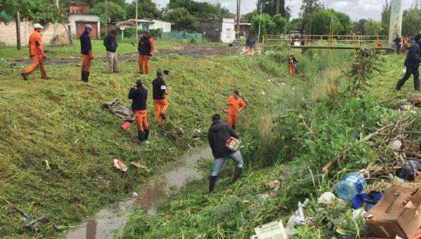 Recuperan márgenes del arroyo Ortega en El Jagüel