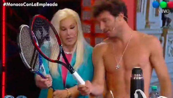En cuero, Pico Mónaco raqueteó con Susana