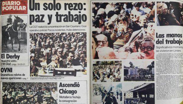 A 35 años de la histórica marcha de la CGT en dictadura