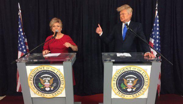 Hillary Clinton y Donald Trump cerraron su campaña con Tinelli