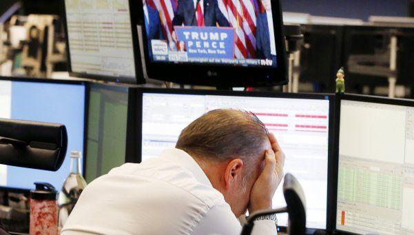 Las bolsas abrieron en baja por la inesperada victoria de Trump