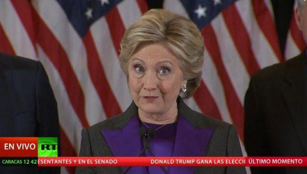 Hillary Clinton: Espero que Trump sea un presidente exitoso
