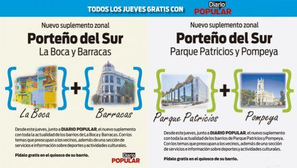 Nuevos suplementos zonales en La Boca-Barracas y Parque Patricios-Pompeya