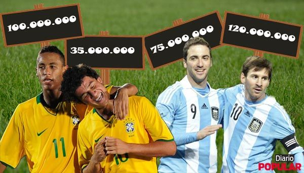 Brasil y Argentina cotizan alto el clásico sudamericano