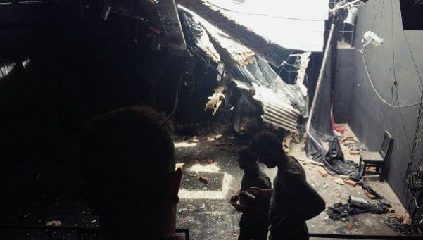 Una pared se derrumbó y destrozó una sala de teatro