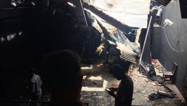 Se derrumbó una obra en construcción y destruyó un teatro en Palermo