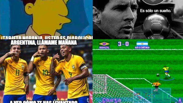 Los memes de la derrota argentina ante Brasil