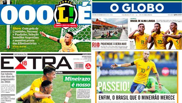 El baile en tapas: los diarios brasileños gozaron tras el clásico