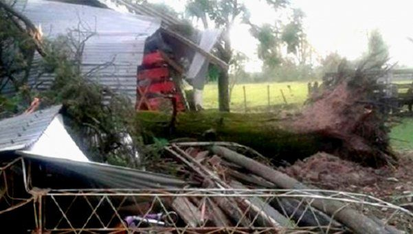 Fuerte temporal causó destrozos en varias ciudades de Entre Ríos