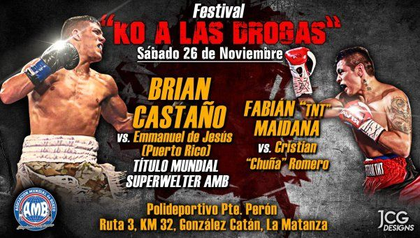 Brian Castaño va por el título AMB en la velada solidaria KO a las drogas