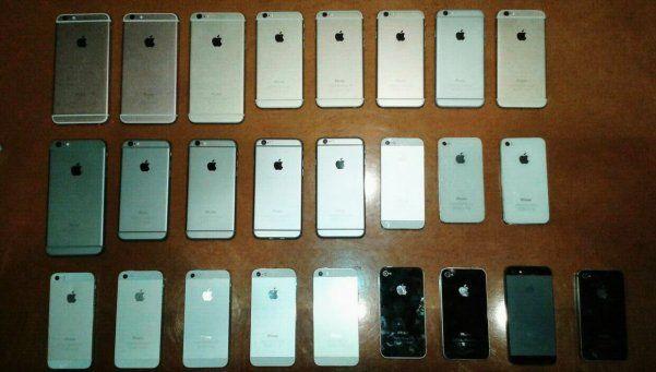 """Desbaratan banda que contrabandeaba repuestos """"truchos"""" de iPhone"""