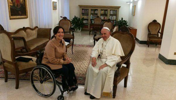 El Papa recibió durante casi una hora a Michetti