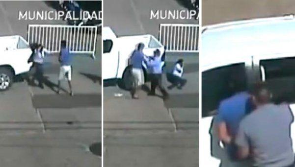 Video | Noqueó a una agente de tránsito que lo multó por cruzar en rojo