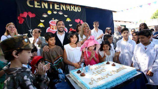 Festejo  por los 100 años de la Primaria 7 de Gutiérrez