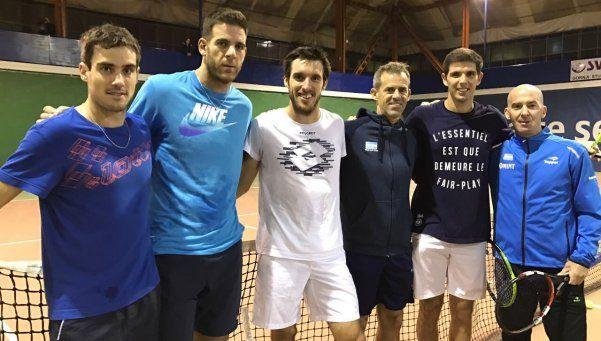 Ya en Croacia, así se prepara Argentina para la final de la Copa Davis
