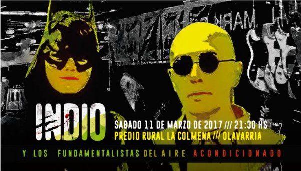 El Indio Solari vuelve al escenario: en Olavarría, el 11 de marzo