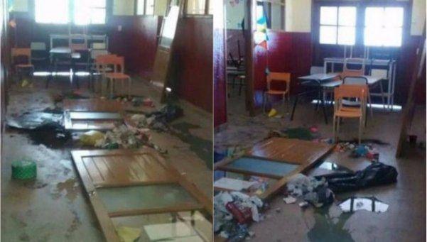 Entraron a una escuela por la noche para inundarla