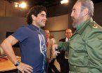 Diego, en el funeral de Fidel: Macri no vino porque no sabe nada