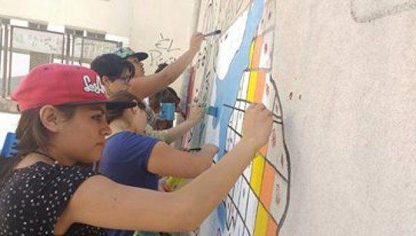 Buscan  la inclusión a través del pintado de murales