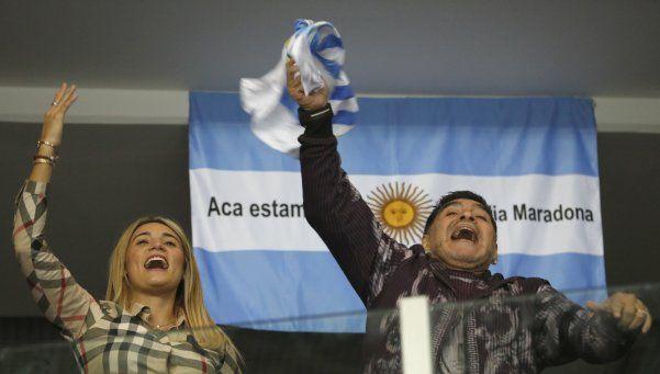 Video | Así festejó Maradona la victoria de Del Potro