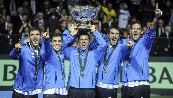 El tenis argentino festeja la Copa Davis en Twitter