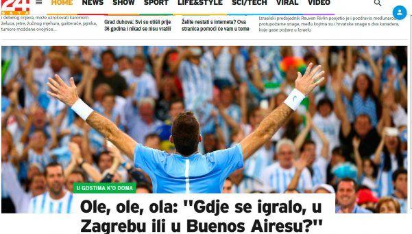 """En Croacia preguntan: """"¿Se jugó en Buenos Aires o en Zagreb?"""""""