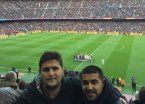Riquelme no se quiso perder el Barcelona-Real Madrid