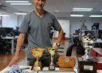 Omar Pineda, a puro bronce en su recorrido por Uruguay