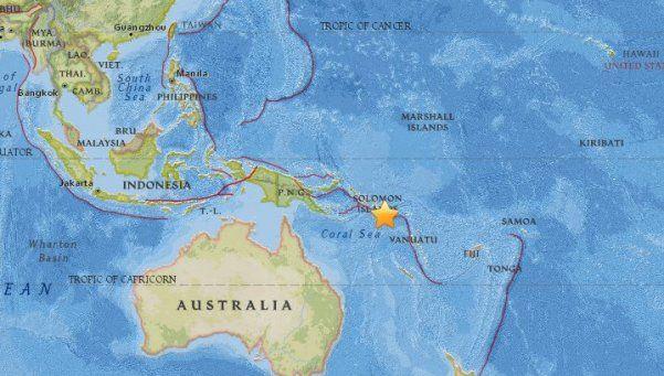 Terremoto de 7,7 hizo temblar las islas Salomón