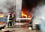Se incendió un depósito de cartones en Bernal