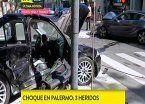 Choque entre autos de alta gama dejó tres heridos