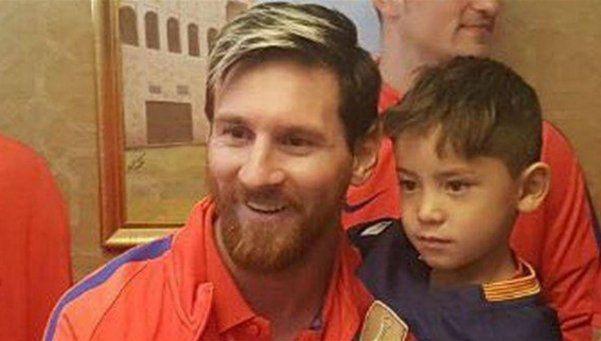 Video | Messi le cumplió el sueño al niño afgano