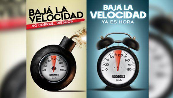 Bajá la velocidad, la campaña que busca concientizar a los conductores
