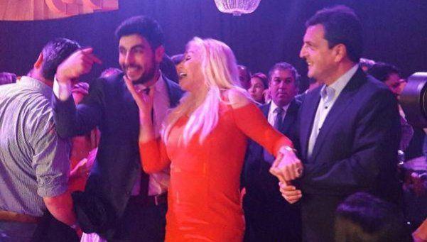 Susana, muy cerca de Facundo Moyano en la fiesta de SUTPA
