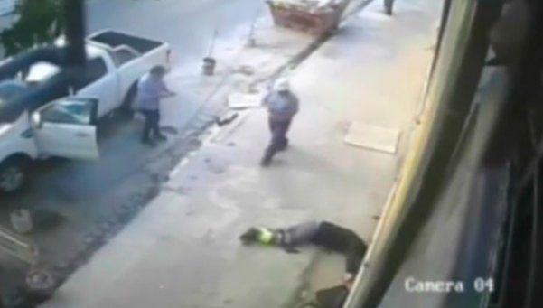 Impactante video: empresario balea a ladrón que intenta robarle