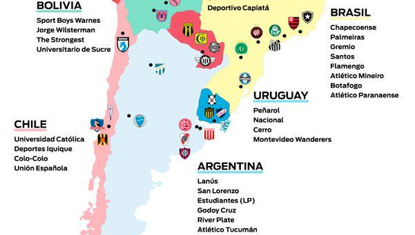 Infografía | Se sortea la Copa Libertadores 2017