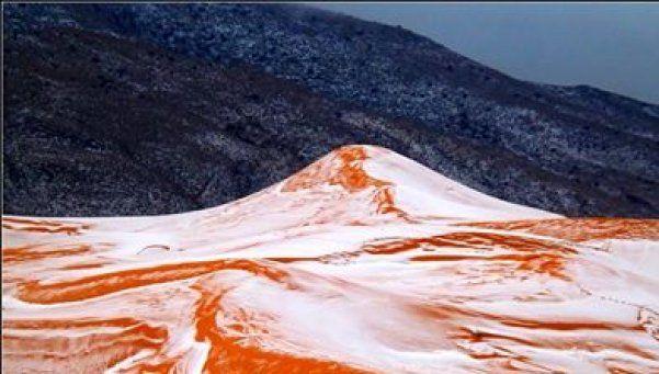 Video   Aunque no lo creas: nevó en el desierto de Sahara